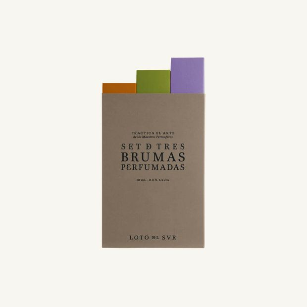 Kit x 3 mini brumas, perfumes Loto del Sur