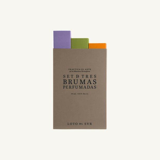 Kit de 3 mini perfumes Loto del Sur Orquídea, Hierbaluisa & Mimosa